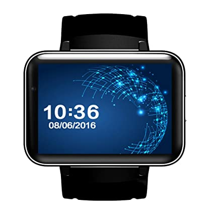 Android Smartwatches, Bestpriceam DM98 Bluetooth 3G Android Smart Watch SIM Phone 4GB Front Camera Dual Core (Black)