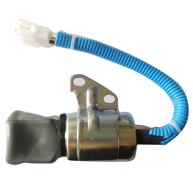 12/12/V Fuel Shut Off Ventil/ 3/Monate Garantie 1756es-12suc5b1s5/sa-5176 /sinocmp cp-u0307/Diesel Motor Stop Magnetventil f/ür Kubota Kraftstoff Solenoid Teile