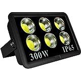 Morsen LED投光器 フラッドライト300W 昼光色 作業灯 屋外照明 看板灯 1.8コード付き LEDライト ハイパワーライトプラグ付き IP65防水 集魚灯 駐車場用 長寿命 取説付き 2年品質保証 (300W)