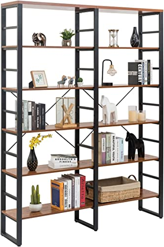 Editors' Choice: Tangkula 80 Inches Double 6-Shelf Bookcase