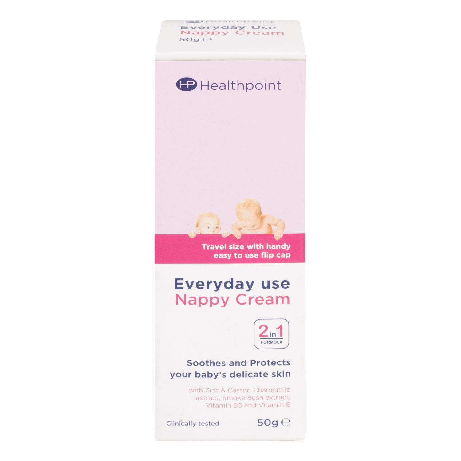 Healthpoint Everyday Use Nappy Cream 2-in-1 Formula Soothes and Protects Baby's Skin 50g, Pack of 12