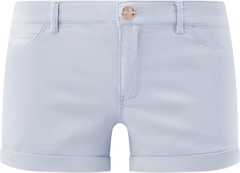 oodji Ultra Donna Shorts in Jeans Stretch con Risvolti