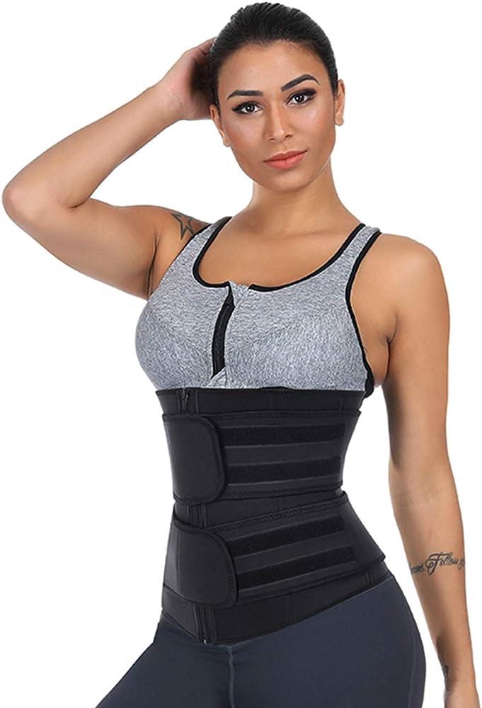 FeelinGirl Mujer Cors/é Underbust Entrenador de Cintura Faja Reductora Huesos Pl/ásticos Tirantes Ajustables Waist Trainer Beige XXL//ES 42-44