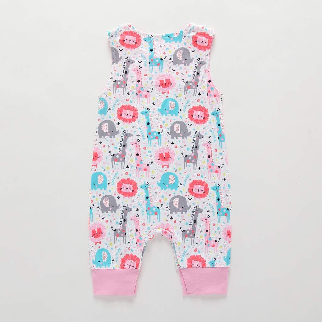 MAYOGO Monos beb/é Ni/ño Bodies Bebe Ni/ño sin Manga Pelele Pijama Impresi/óN De Dibujos Animado Ropa de Bebe Ni/ño Reci/én Nacido beb/é Body Bebe Disfraz de Dormir Verano Bebe 0-2 A/ños