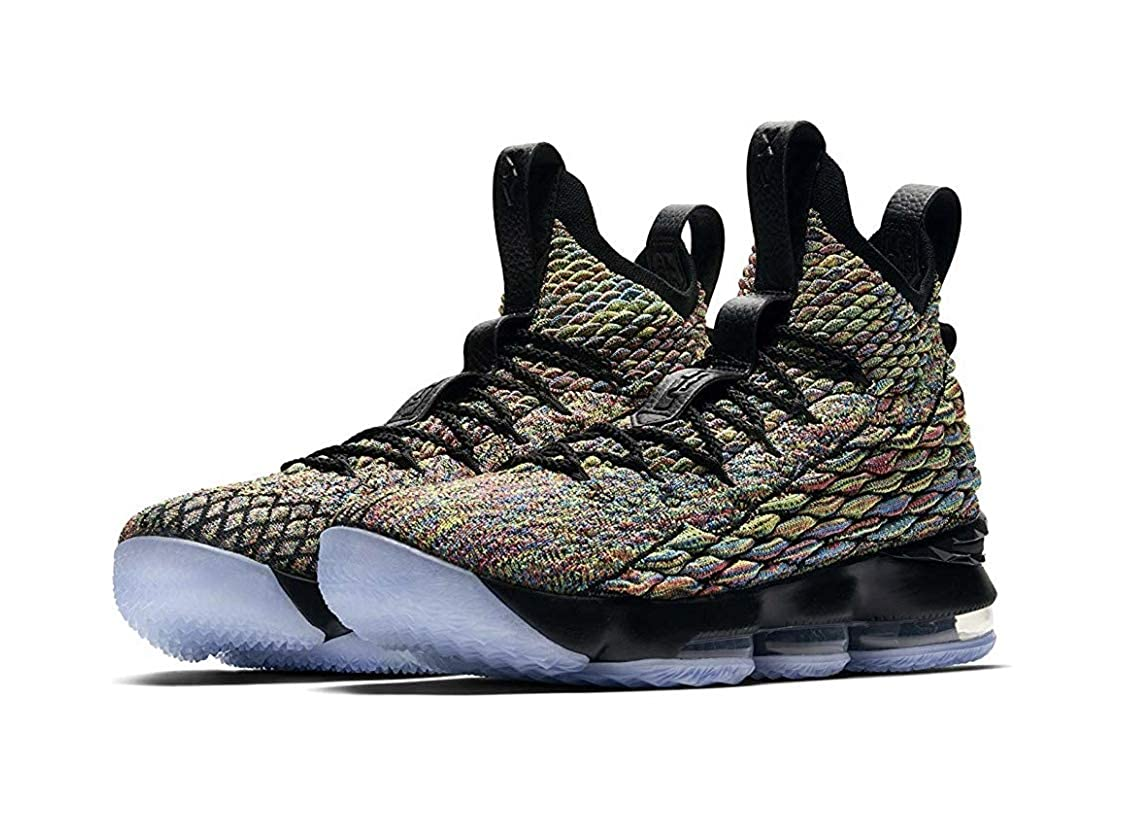 wholesale dealer 33037 3b7ef Nike Men's Lebron 15 Basketball Shoes (11.5, Black/Multi Color)