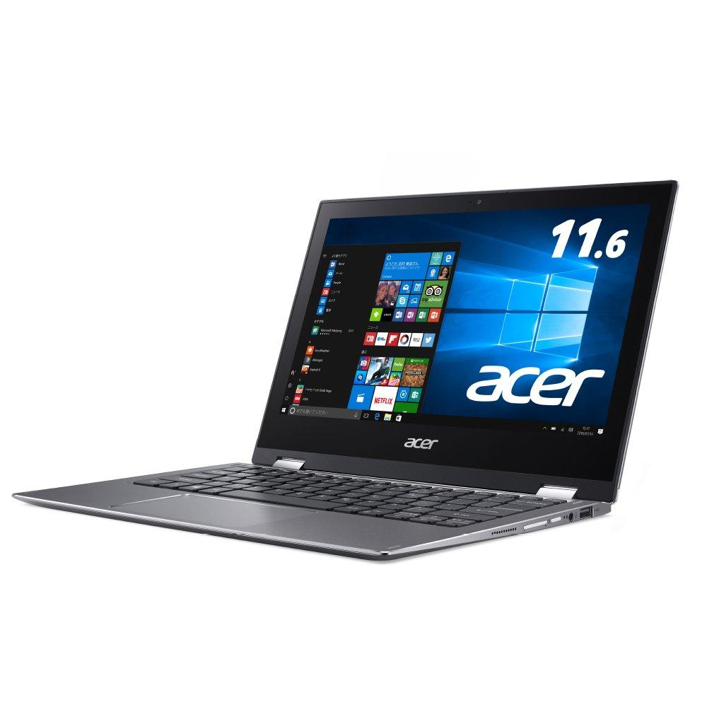 Acer ノートパソコン Spin5 SP513-52N-F78U (Windows 10/Core i7-8550U/13.3インチ/8GB/256GB SSD/ドライブなし/スチールグレイ) B0779G1R6D 5)【ハイエンド】Core i7, SSD 256GB|KINGSOFT Officeあり  5)【ハイエンド】Core i7, SSD 256GB