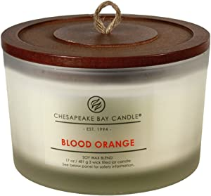 Chesapeake Bay Candle 3-Wick Scented Candle, Blood Orange, Coffee Table Jar