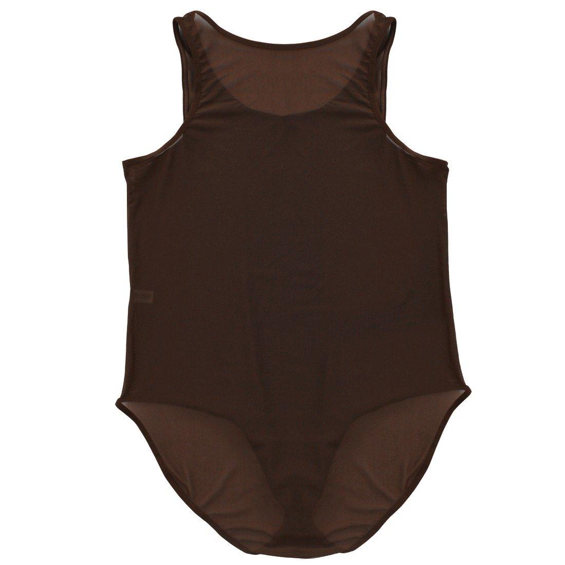 003992dd8e MSemis Men's Sexy See Through Sheer Mesh Leotard Bodysuit High Cut Thong  Vest Lingerie: Amazon.co.uk: Clothing