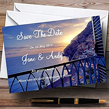 The Amalfi Coast Italy Personalized Wedding Save The Date Cards