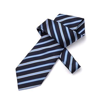 DW&HX Azul de raya para hombre corbata corbata boda formal partido ...