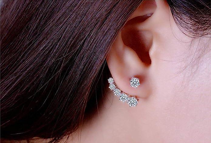 Silver Ear Jacket Silver Ear climber Sterling Silver Ear Cuff Crown Ear Cuff Ear Jacket Earring Edgy Earrings Ashanti. Spike earrings