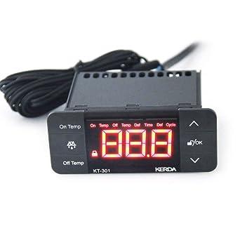 KT-301 Controlador de temperatura Termostato Refrigerador Sensor ...