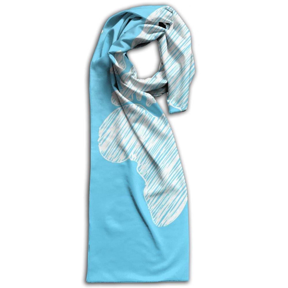 World Map 100% Polyester Soft Scarves Shawls Elegant Cartoon For Women Gift For Travel