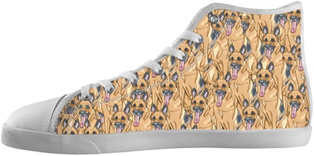 German Shepherd Shoes High Top Canvas Sneakers