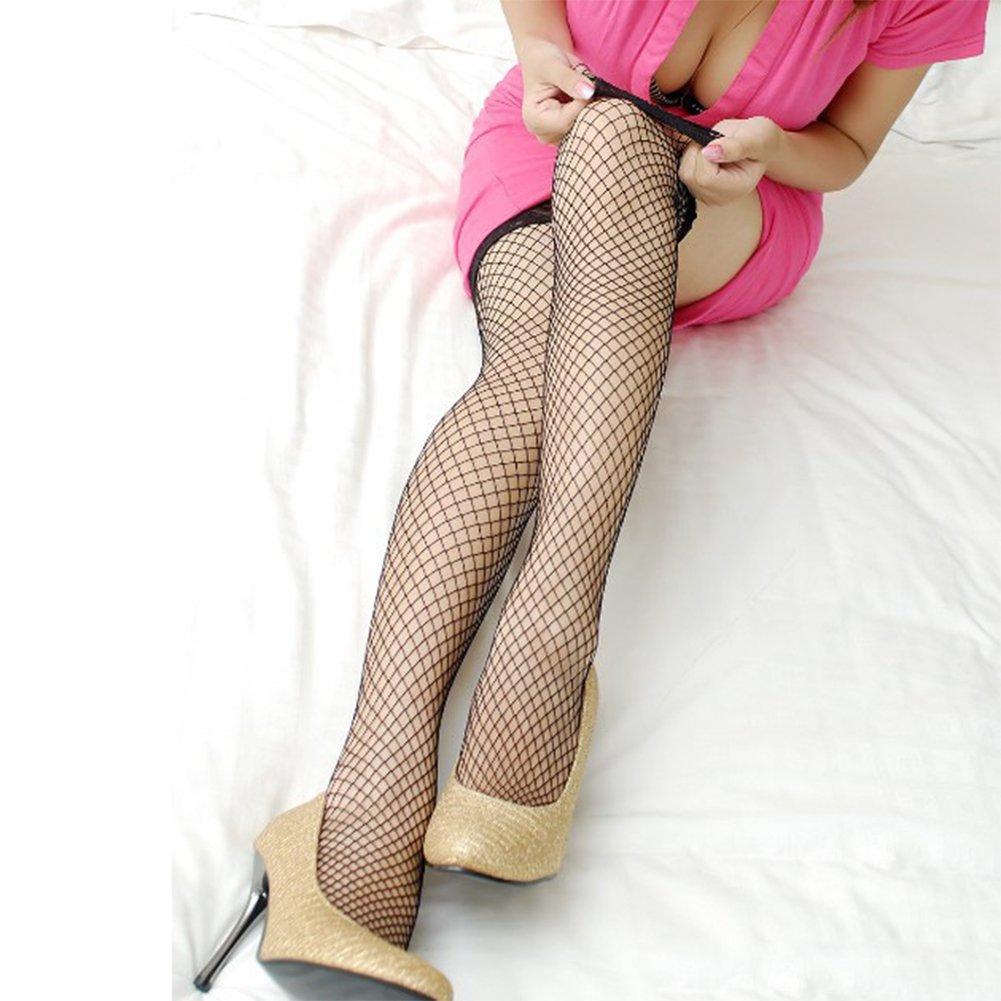 068c4f88d1f10 Amazon.com: Women Sexy Lace Hot Fishing Fence Net Leggings Thigh High Long  Socks Silk White: Clothing