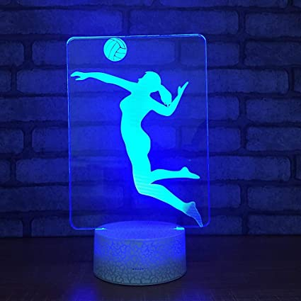 3D Lámpara lampara de ilusion óptica Jugador de voleibol de ...