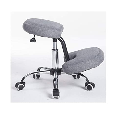 Ergonomic Kneeling Chair Steel Frame Knee Stool In Black Fabric For Posture Correction And Back Pain