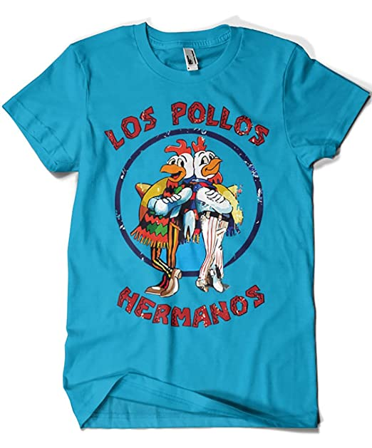 1526-Camiseta Breaking Bad - Los Pollos Hermanos Zafiro