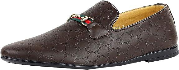 JAS para Hombre Casual Mocasines Mocasines Italiano sin Cordones Zapatos Piel Sintética