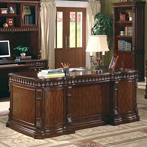 Coaster Home Furnishings Tucker Modern Traditional Five Drawer Executive  Office Desk with CPU Storage - Rich Brown - Antique Desks: Amazon.com