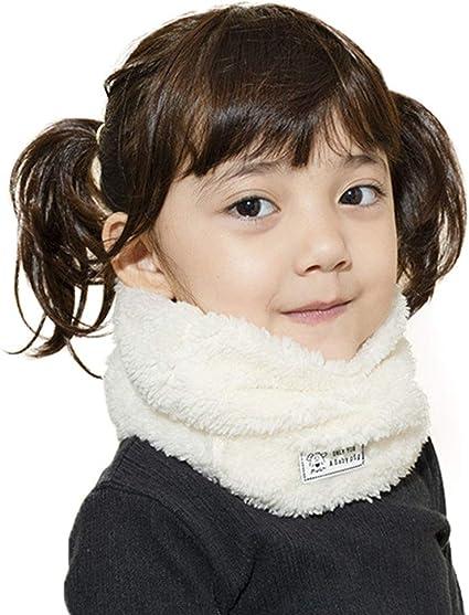 Vobony Bufandas Cuello Polar Bebé Suave Cálido Bufanda Algodón o ...