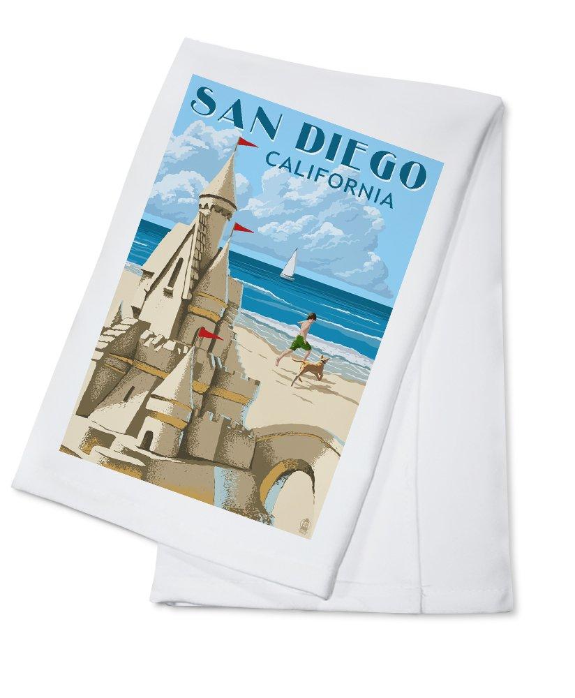 大人の上質  San Diego, Lantern California Poster) - Sandcastle (16x24 Giclee Diego, Gallery Print, Wall Decor Travel Poster) by Lantern Press B0184BZ3T4 Cotton Towel Cotton Towel, 西春日井郡:0e180f14 --- mail.consumer1st.in