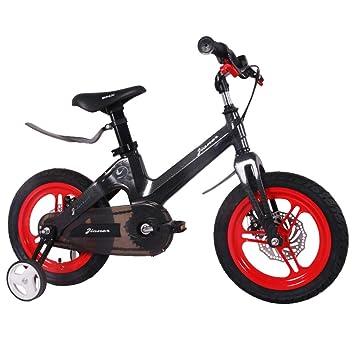 1-1 Bicicleta para niños Ligero Aleación de magnesio Freno de Disco Doble Absorción de Golpes Altura Ajustable Niño Niña 12 Pulgadas Bicicleta,Red: ...