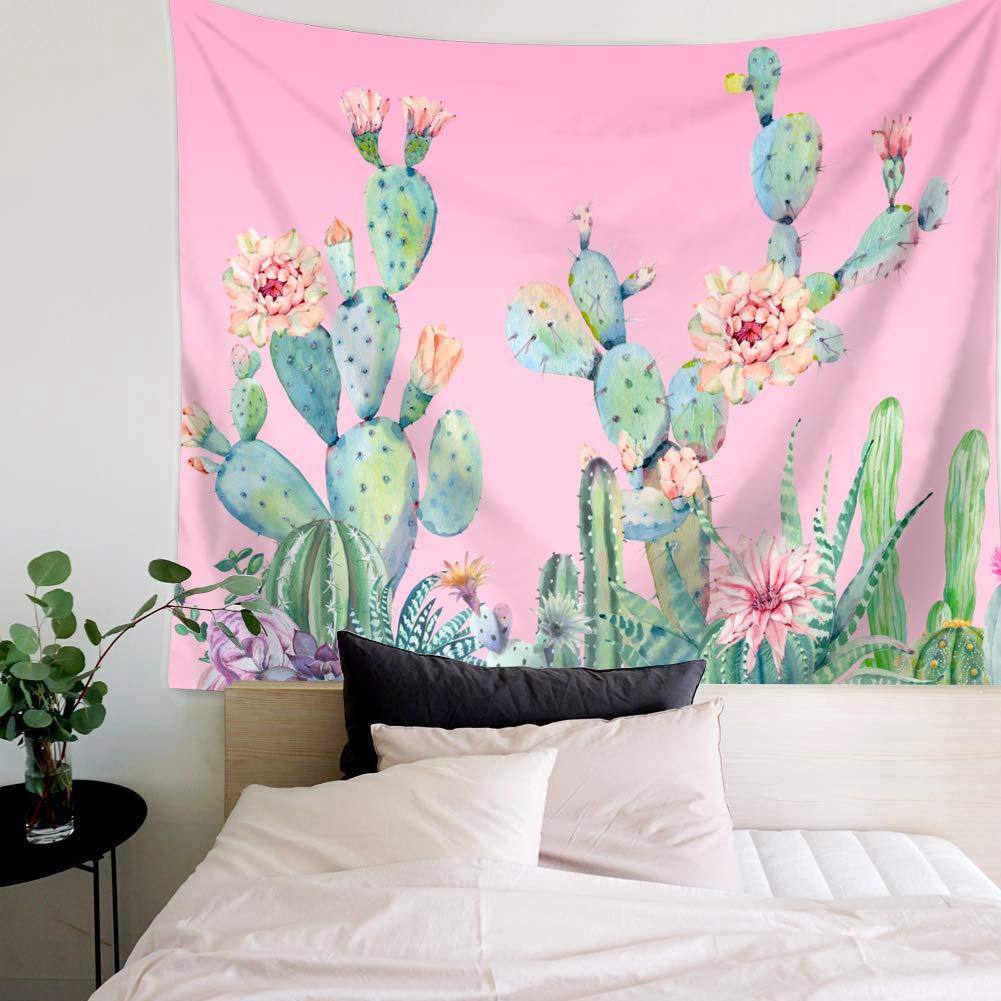 LANG XUAN Tapiz de Pared de Cactus Rosa Colgar en la Pared ...