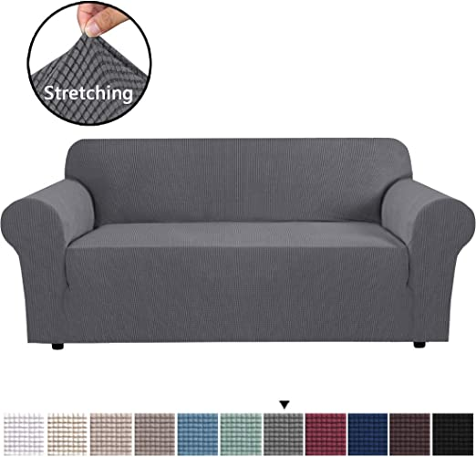 H.VERSAILTEX High Stretch Sofa Cover 1 Piece Couch Covers Lounge Covers for  3 Cushion Couch Sofa Slipcover for Living Room Sofa Cover Stretch Lycra ...