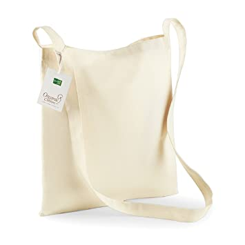 64645858a Westford Mill Organic Cotton Sling Tote in Natural: Amazon.co.uk: Luggage