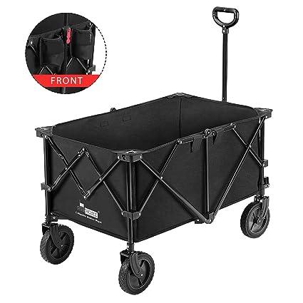 Amazon.com: VIVOHOME Carro de transporte plegable y ...