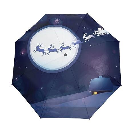bennigiry Seamless Patrón con diseño de gatos 3 plegable paraguas automático abrir Cerrar, compacto viento