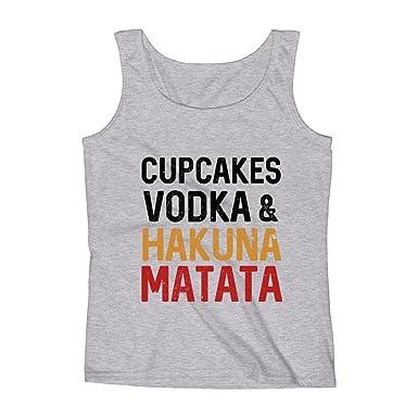 b7d3962353566 Mad Over Shirts Cupcakes Vodaka   Hakuna Matata Party Film Small Grey  Unisex Premium Tank Top