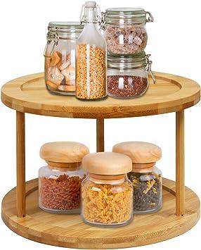 Multi functional condiment storage cabinet  rotatable kitchen storage rack