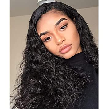Curly Lace Front Wig Long Water Wave Wigs Black Hair Natural Hairline Heat  Resistant Fiber Lace f412cd97ff10