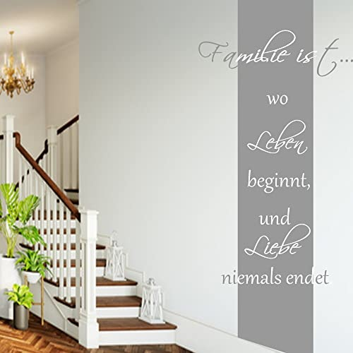 Wandschnörkel ® Wandtattoo ~HM~AA181~Familie ist wo Leben beginnt ...