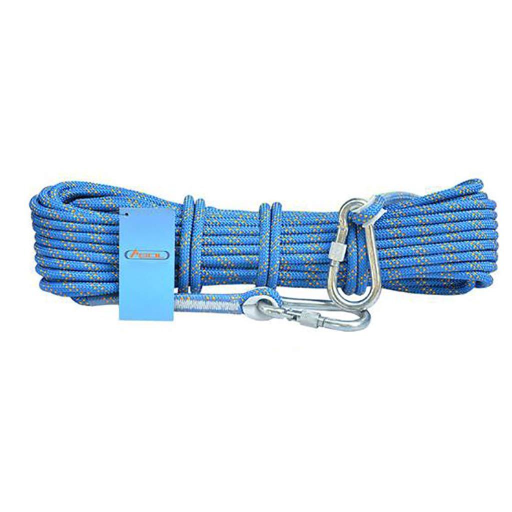 TLMYDD Corde auxiliaire d'escalade Corde Fournitures de Plein air équipement de Survie Corde Fournitures diamètre 8 10.5   12mm Cordes (Taille   12mm 10m) 10.5mm 20m