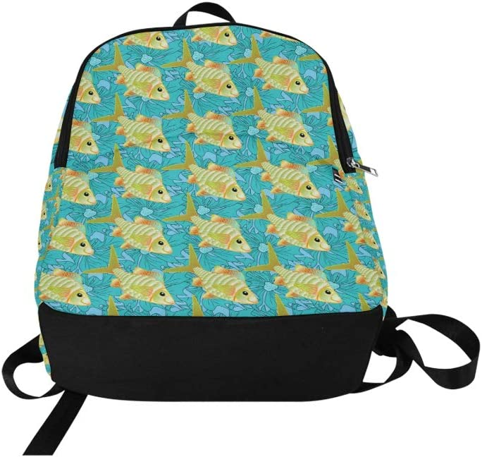 Sports Bag for Women Delicious Creative Seafood Duobao Fish Durable Water Resistant Classic Casual Makeup Bag College Bags Women Mens School Bag Hiking Book Bag