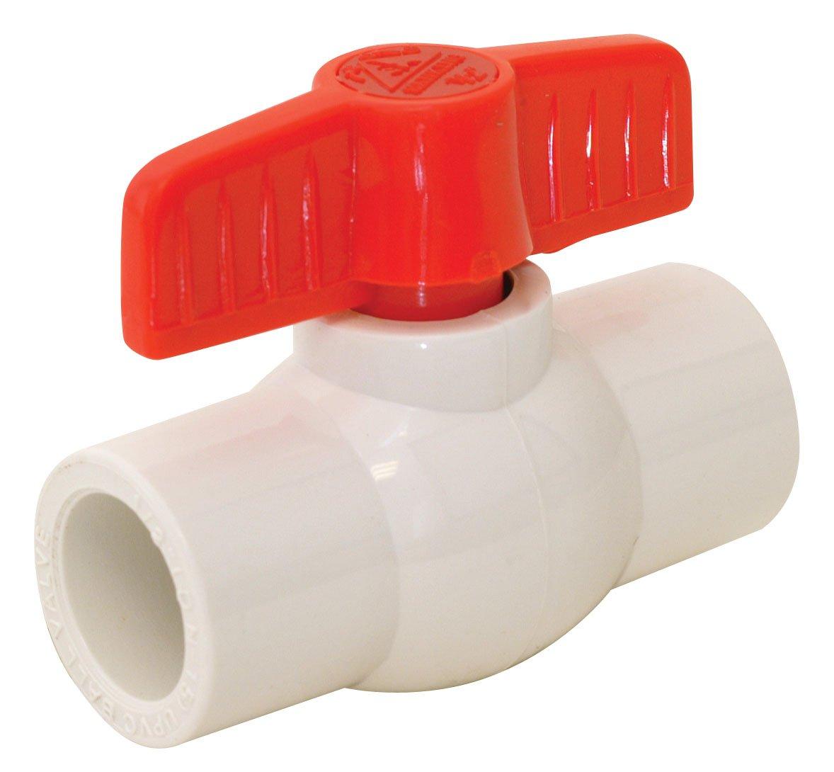 "EZ-FLO 20123 slip ball valve pvc, 3"", White"