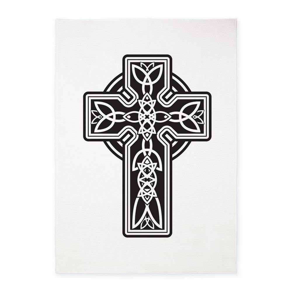 5' x 7' Area Rug Celtic Cross by Royal Lion