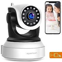 APEMAN 720P Wlan IP Kamera WIFI Überwachungskamera mit Nachtsicht Bewegungserkennung 2 Wege Audio Smart Schwenkbar Home Kamera Baby Monitor unterstützt Fernalarm und Mobile App Kontrolle