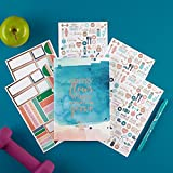 Erin Condren Wellness Log Bundle with Stickers (Includes Petite Planner w/Illustrative and Functional Stickers