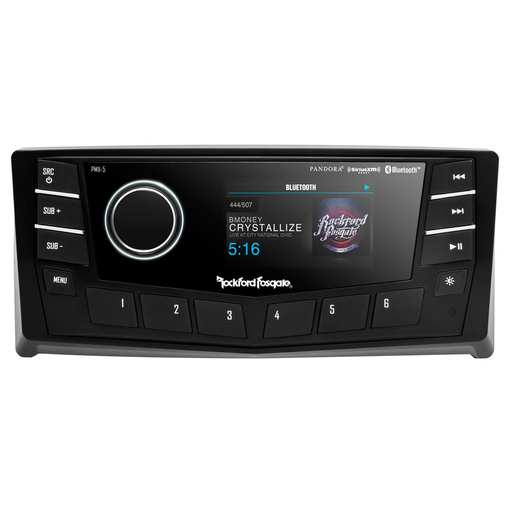 Rockford Fosgate PMX-5CAN Single Din Stereo w/CANbus Interface