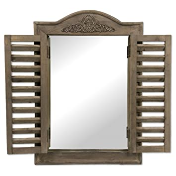 Outstanding Mirror With Shutters Vintage Country Cottage Style Handmade Home Interior And Landscaping Ologienasavecom