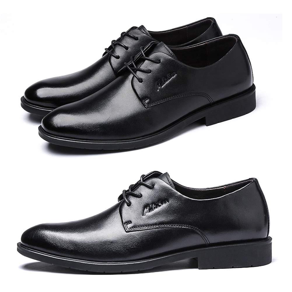 LXLA- Herren Business Casual Lace up Wedding Lederschuhe,   Herren Wedding up Dress Runde Kopf Schuhe Für Männer (Farbe : Braun, größe : 41) Schwarz 945f95