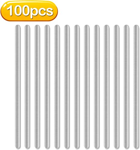 Plastic Strips Nose Wire,Double Wire Nose Bridge for Mask,8CM Flat Nose Clips Nose Bridge Bracket DIY Wire for Sewing Crafts 100pcs)