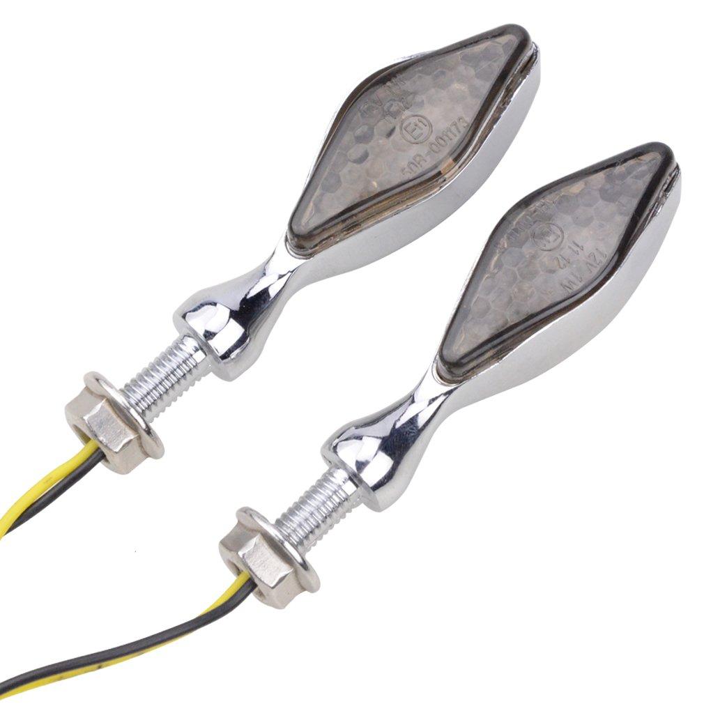 GOOFIT Universal Motorcycle /¨C Chrome /¨C LED Light Bulb Lamp for ATV Scooter Bike Turn Signal Indicators /¡/
