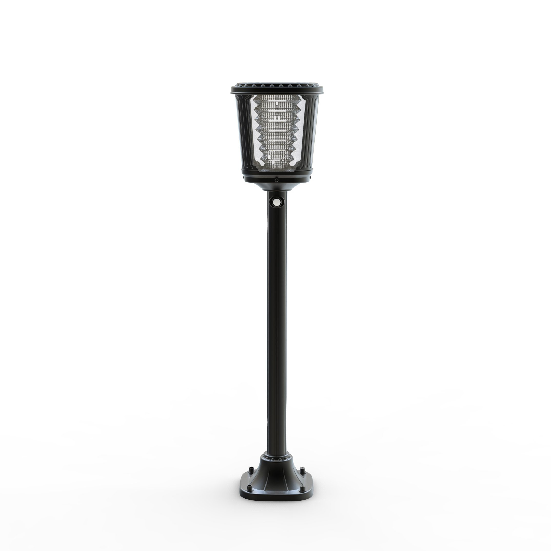 Asklan Solar Led Post Torch Light for Pathway Garden Walkway Driveway Entryway Yard – ALS 2.0 and TCS Technology–Ternary Lithium Ion Technology – Smart PIR Motion Detector – Aluminum Waterproof IP65