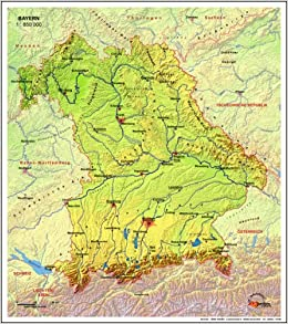 Karte Bayern.Echt 3d Karte Bayern Optisch Echt 3dimensionale Landkarte Bayerns