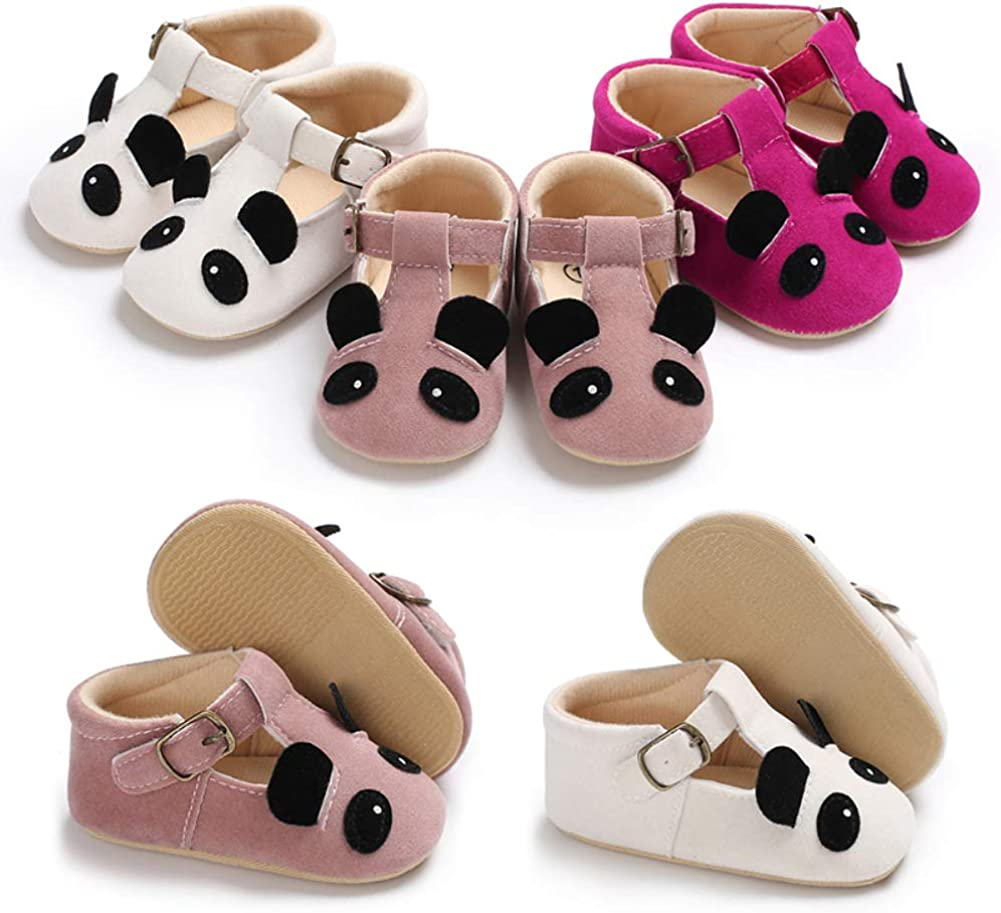 Red Roan 13 cm quyysvnvqt Toddler Baby Girl Boy Infant Non Slip Faux Leather Cartoon Panda Walking Shoes